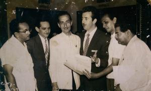 De izquierda a derecha, entre otros: Severino Ramos, Carlos Argentino, Julio Blanco, Néstor Milí.
